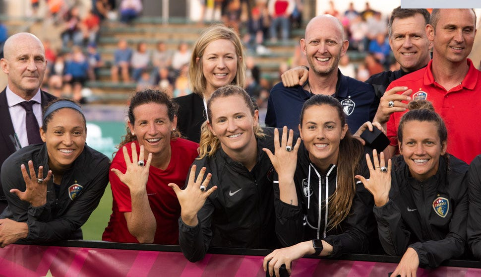 NC Courage 2018 Championship Rings Presentation