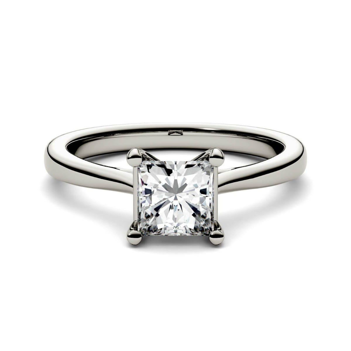 four in p rings platinum brilliant stone engagement setting diamond square ring