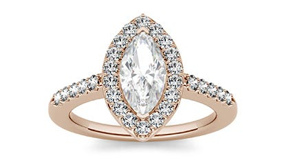 Forever One Moissanite Engagement Ring