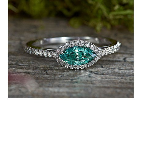 Forever One green moissanite jewelry
