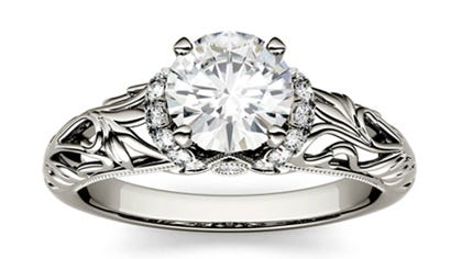 Top rated moissanite  engagement ring