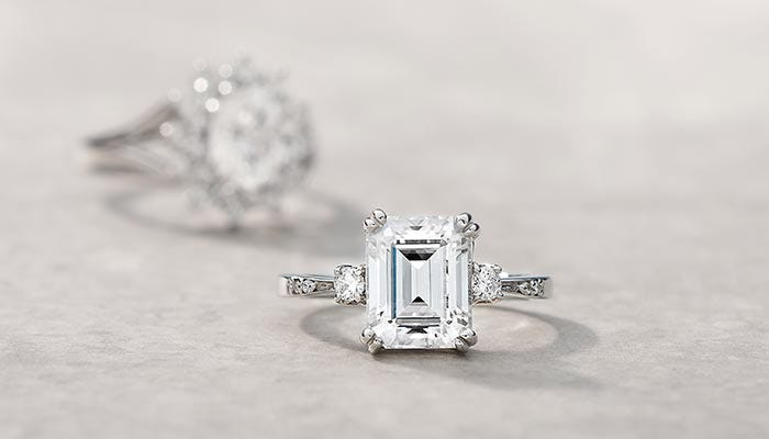 Moissanite Engagement Rings Fit For a Princess