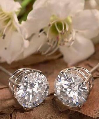 Bravo Round Forever® Brilliant Earrings, available on Moissanite.com, from $299