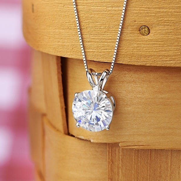 Jovana Pendant, Moissanite.com, from $299