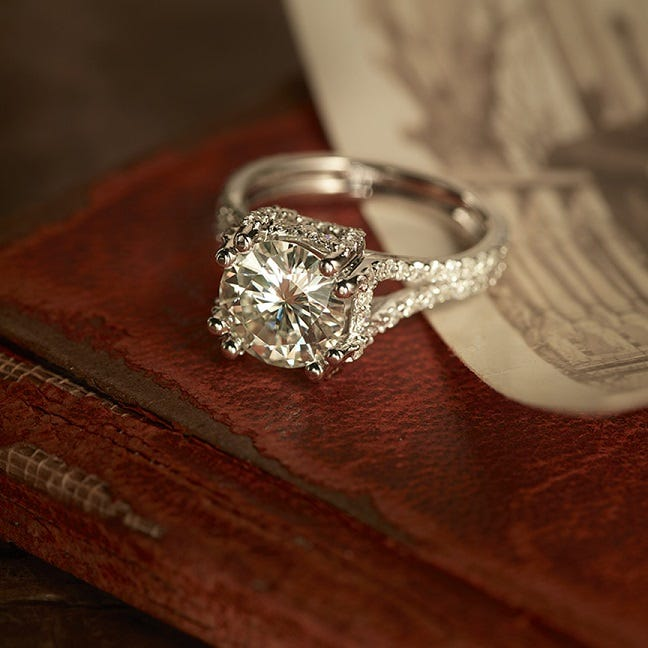 The Blair Ring by Venazia, Moissanite.com, $3,999