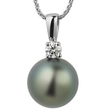 Pearls have been classified as both precious and semiprecious at different times in history. Bijou Pearl and Moissanite Necklace, Moissanite.com, $999