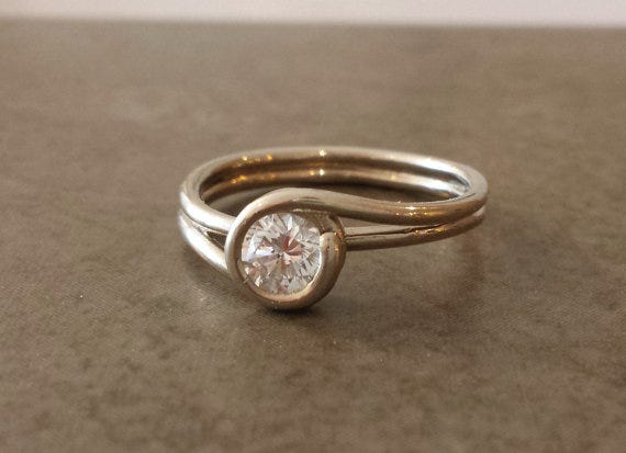 Twist White Gold Engagement Ring, Alchemy House Jewellery, from $976.56