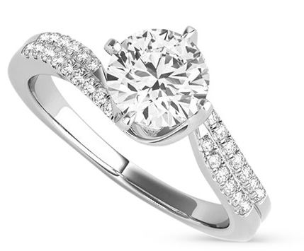 Golson Round Brilliant Ring, Moissanite.com, from $999