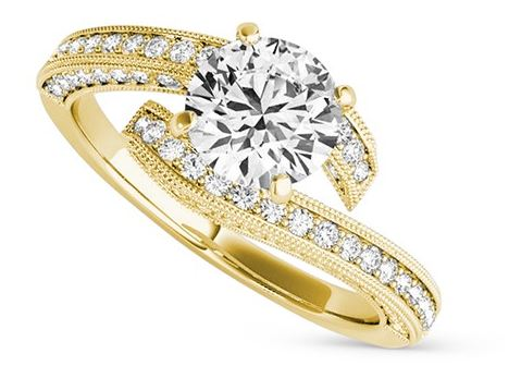 Pavol Round Brilliant Ring, Moissanite.com, from $1,299