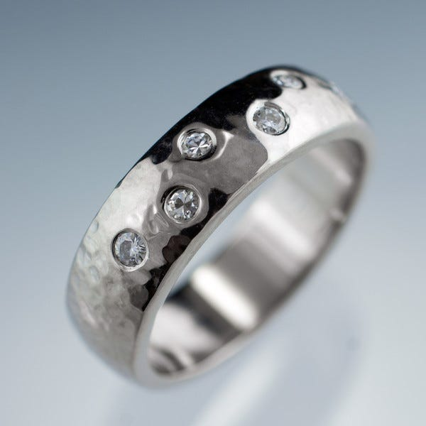 Hammered Wedding Ring, Nodeform, $670