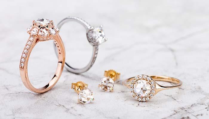 Rose-cut-earrings